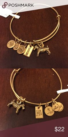 Alex and Ani bracelet Alex and Ani Rafaelian Gold monopoly dog bracelet. New with retail tags Alex & Ani Jewelry Bracelets