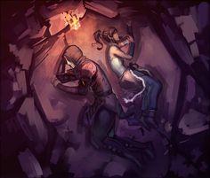 Avatar: The Legend of Korra - Amon and Korra
