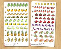 Choose Your Own Watercolor Stickers for Receipts, Life Planners, etc - 16 Kind of Fruits for a Total of 111 Stickers Watercolor Stickers, Kinds Of Fruits, Life Planner, Planners, Pots, Holiday Decor, Unique Jewelry, Handmade Gifts, Vintage
