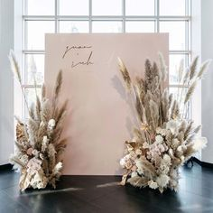 wedding backdrop N I C O L E + R I C H A R D // Its soooo fluffy! Couldnt stop laughing at how much hairspray was needed to tame the pampas! Wedding Stage, Boho Wedding, Floral Wedding, Wedding Ceremony, Dream Wedding, Destination Wedding, Forest Wedding, Mauve Wedding, Wedding Veils