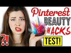 GENIALE PINTEREST BEAUTY HACKS im LIVE TEST | FAKE EYELINER AUFKLEBEN?! | Mit KINDOFROSY | DIY HACKS - YouTube