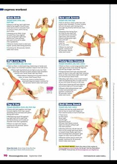 Yoga dance workout from Fitness mag, Sept Yoga Abs, Step Workout, Fitness Tips For Women, Thigh Exercises, Fitness Magazine, Yoga Teacher Training, Outdoor Workouts, Pilates, Barre