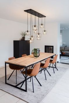 Are you looking for the perfect pendant? These pendant Noury fits beautifully ab. Dining Room Design, Living Room Decor Apartment, Dining Room Inspiration, Interior, Dinning Room Decor, House Interior, Modern Dining Room, Room Decor, Apartment Decor
