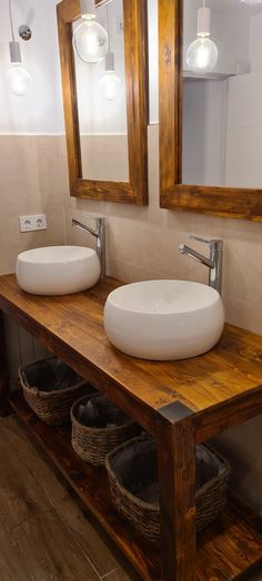 Mueble de lavabo con palets y espejos a juego – I Love Palets Sink, Vanity, Love, Bathroom, Ideas, Home Decor, Concept, Home Wall Decor, Be Better