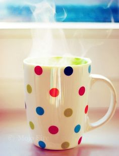Pier One polka dot coffee cup/mug