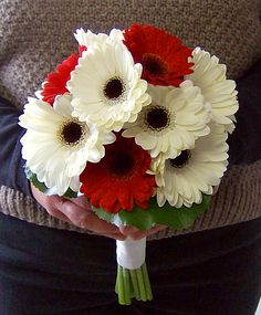 Gerbera Daisy Hand-tied Brides Bouquet