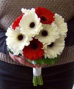 Gerbera Daisy Hand-tied Brides Bouquet