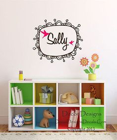 Monogram Frame Custom Name Vinyl Wall Decal Stickers