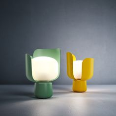 BLOM Table Lamp Designed by Andreas Engesvik for Fontana Art.- BLOM Table Lamp Designed by Andreas Engesvik for Fontana Arte - White Table Lamp, A Table, Table Lamps, Table Lighting, Pink Table, Interaction Design, Diy Luminaire, Lampe Gras, Compact Fluorescent Bulbs