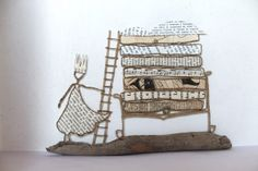 Epistyle: La princesse au petit pois I like the idea of re creating a fairy tale or story Create A Fairy, Art Du Fil, Origami And Quilling, Princess And The Pea, Steel Art, Craft Activities For Kids, Metal Crafts, Wire Art, Book Crafts