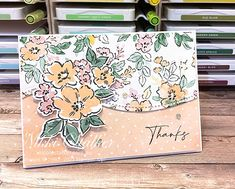 Fancy Fold Cards, Folded Cards, Pretty Cards, Cute Cards, Thank U Cards, Stampin Up Catalog, Cricut Cards, Stamping Up Cards, Card Tutorials
