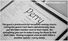 Reception Seating Chart, Seating Charts, Do Everything, Table Numbers, Wedding Blog, Names, Wedding Table Numbers