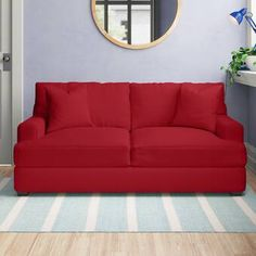 """Zipcode Design™ Evan 66.5"""" Wide Square Arm Convertible Sofa & Reviews   Wayfair Queen Size Sofa Bed, Best Sofa, How To Make Bed, Slipcovers, Seat Cushions, Evans, Love Seat, Upholstery, Lounge"""