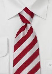 Gestreifte XXL-Krawatte in weiß und rot günstig kaufen
