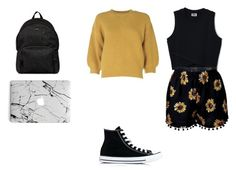 """""""outfit #175"""" by anaguilhermep98 on Polyvore featuring 3.1 Phillip Lim, Converse, Hogan, black, shorts, basic and casualoutfit"""