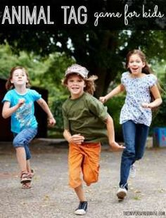 Now that spring has almost officially sprung, let's get kids outside and moving with a fun new tag game for kids!