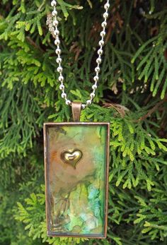Resin Jewelry Pendant -Three Demensional. $18.00, via Etsy.