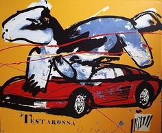 Herman Brood, Testarossa  100 x 120