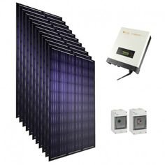 Kit solaire autoconsommation Panasonic 3000 W 6000 W 9000 W Kit, Solar Powered Heater