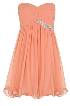 Peach Ruffle Dress...sneak in the sparkle ;)