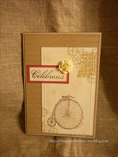 Feeling Sentimental from Stampin' Up! Sale-A-Bration Catalog also uses Artisan Embellishments Kit. Clockworks stamp set from Annual Catalog completes the card.