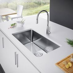 Kubus Single Bowl Undermount Kitchen Sink  Sinks Bowls And Kitchens Inspiration Undermount Kitchen Sink Review