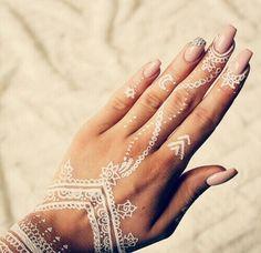 white henna hand tattoo designs - Google Search