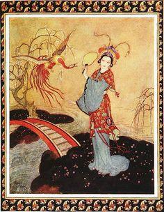 """Edmund Dulac. Illustration for """"Princess Badoura"""""""