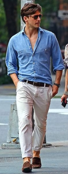Men's Fashion: #blue #denim #shirt