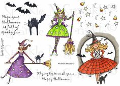 Candy Corn Halloween - Rubber Stamp Set [00-470P4]