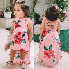 Details about Summer Toddler Kid Baby Girls Sundress Sleeveless Flower Party Dress Clothes New - Kids Dress Wear, Kids Gown, Kids Outfits Girls, Little Girl Outfits, Frocks For Girls, Little Girl Dresses, Girls Dresses, Dresses Dresses, Toddler Outfits