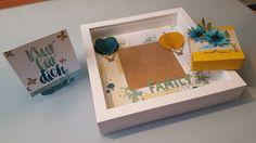 Geschenkeset, Birthday, Geburtstag, Karte, Card Rahmen, Ikea Ribba, frame, Verpackung, Blüten, Family, Familie stampin up