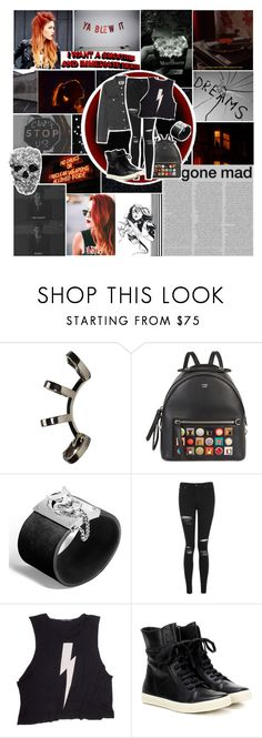 """""""You left me skin and bone, you left me all alone"""" by pie-epic ❤ liked on Polyvore featuring Repossi, Fendi, John Hardy, Topshop, Wildfox, Rick Owens, kitchen and sgfyround02"""