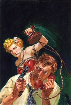 pulp art   Pulp cover art by Norm Norman Saunders woman dame ...   Pulp Covers