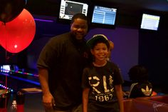 Founder, Quentin Gadson with one of our young bowlers for the day!