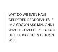 Gendered deodorant...
