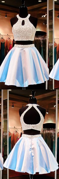 2016 charming homecoming dresses,junior two-piece homecoming dresses,white homecoming dresses,sparkling homecoming dresses,back to school dresses,short prom dresses,halter prom dresses,party dresses,cute party dresses