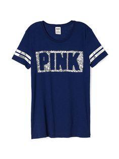 Boyfriend Crewneck Tee - PINK - Victoria's Secret