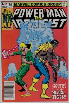 Power Man and Iron Fist 82 June 1982 Marvel Comics Marvel Comics Art, Marvel Comic Books, Comic Book Heroes, Comic Books Art, Comic Art, Spiderman Marvel, Marvel Characters, Iron Fist Powers, Iron Fist Comic