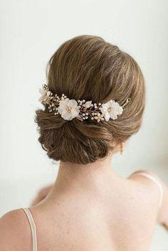 accessoires cheveux coiffure mariage chignon mariée bohème romantique retro, BIJOUX MARIAGE (75)