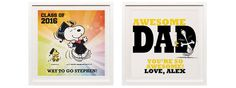 Customizable Peanuts Art Print for Dads or Grads!
