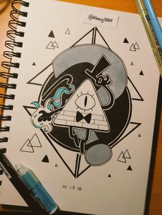 My personal work: drawings, sketches, doodles, pixel art and WIPs Gravity Falls Bill Cipher, Gravity Falls Art, Desenhos Gravity Falls, Billdip, Doodle Art, Cool Drawings, Art Sketches, Character Design, Doodles