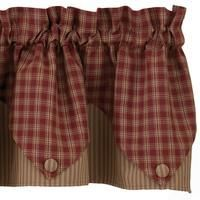 Primitive curtains and country valances from Park Designs, Victorian Heart, IHF and Raghu. Hundreds of valances to chose from.