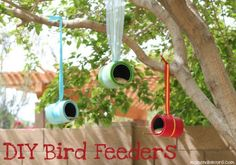 DIY Kids: Colorful Bird Feeders | The DIY Adventures - upcycling, recycling and DIY from around the world