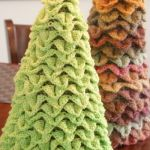 Spring Lime Topiary Crochet Tree