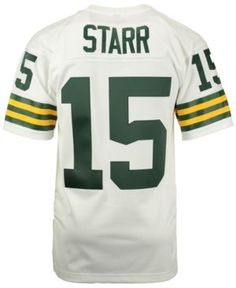Mitchell and Ness Men's Bart Starr Green Bay Packers Replica Throwback Jersey  - Green/White XXL