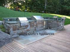 Outdoor Kitchen with Capital outdoor grill, Lynx and Liebherr Appliances - modern - patio - new york - Curto's Appliances