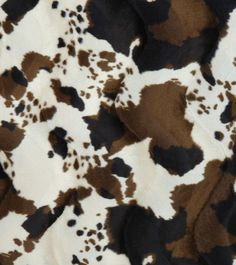 Cow Textured Velvet With A Black And White Cow Hide Print
