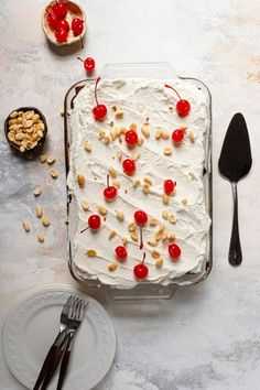 Ice cream sandwich cake with whipped cream, peanuts and cherries on top. Protein Ice Cream, Yogurt Ice Cream, Diy Ice Cream, Homemade Ice Cream, Whipped Cream, Ice Cream Desserts, Frozen Desserts, Ice Cream Recipes, No Bake Summer Desserts