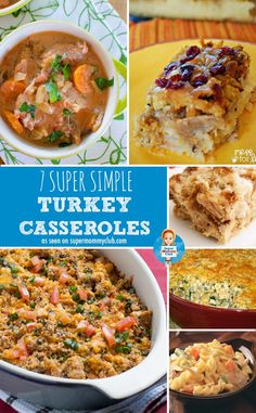 No idea what to do with all that leftover turkey after Thanksgiving or Christmas? How about some super simple turkey casseroles?